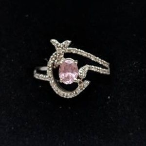 Jewelry - Custom Diamond Accented Ring w/Pink Sapphire